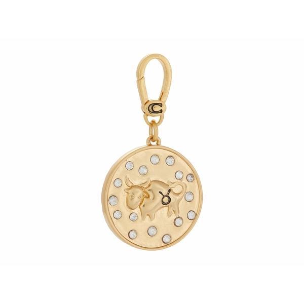 コーチ ネックレス・チョーカー・ペンダントトップ アクセサリー レディース Swarovski Crystal Zodiac Charm Taurus Gold