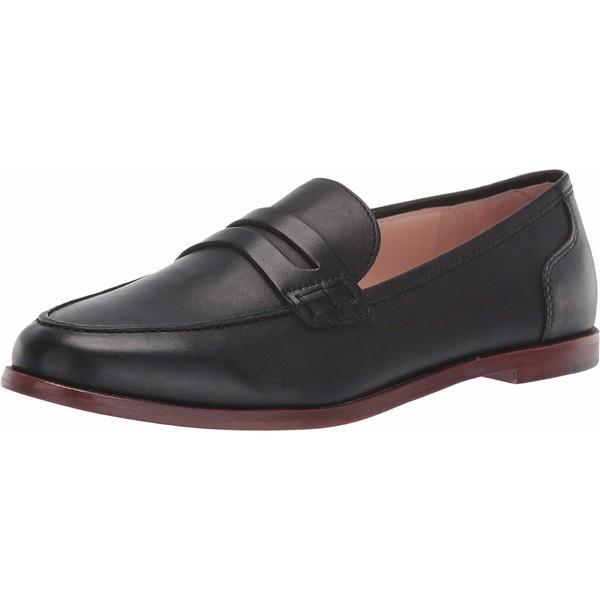 ジェイクルー スリッポン・ローファー シューズ レディース Ryan Penny Loafers in Leather Black