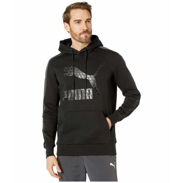 プーマ パーカー・スウェットシャツ アウター メンズ Luxe Pack Hoodie Black|asty-shop2