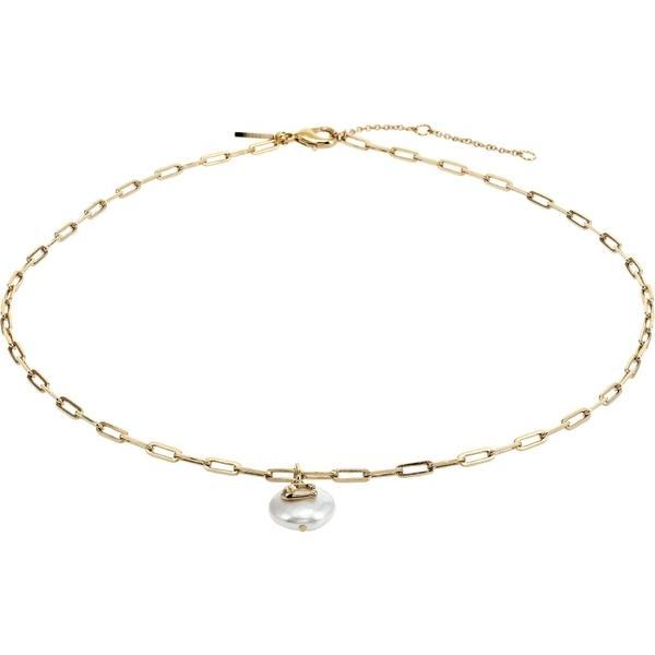 コーチ ネックレス・チョーカー・ペンダントトップ アクセサリー レディース Pearl Logo Short Pendant Necklace Pearl