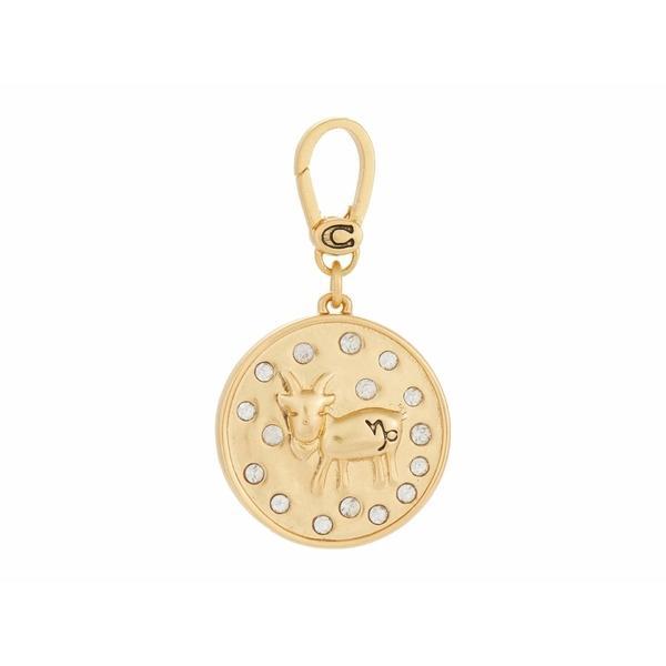 コーチ ネックレス・チョーカー・ペンダントトップ アクセサリー レディース Swarovski Crystal Zodiac Charm Capricorn Gold