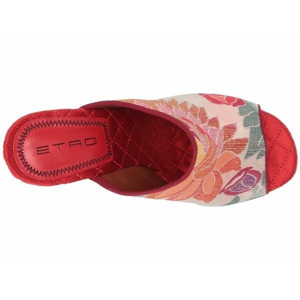 エトロ ヒール シューズ レディース Jacquard Fabric Heel Pink Multi