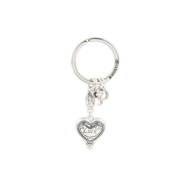 ブライトン キーケース&キーリング アクセサリー レディース Lucky Clover Heart Fob Silver