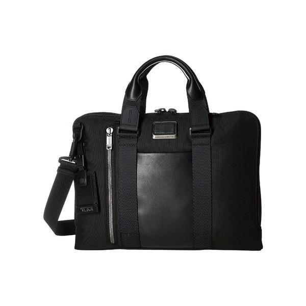 トゥミ ビジネス系 バッグ メンズ Alpha Bravo Aviano Leather Slim Brief Black