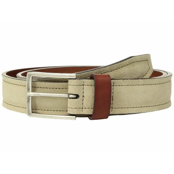 Johnston /& Murphy Mens Suede /& Leather Loop Belt Black 44