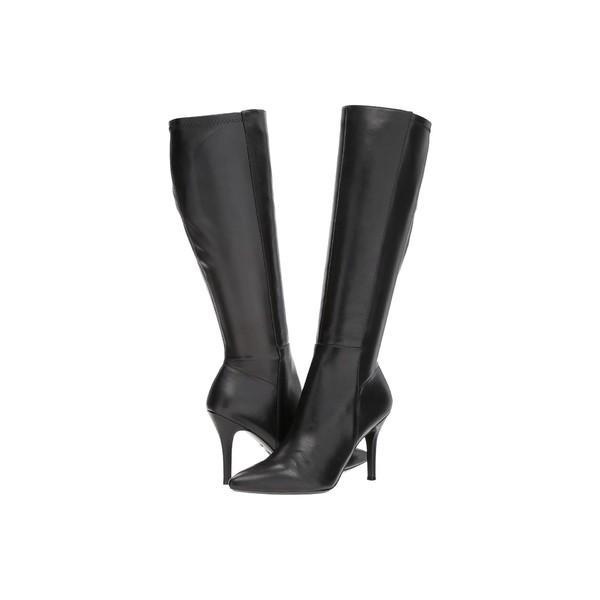 ナインウェスト ブーツ&レインブーツ シューズ レディース Fallon Tall Dress Boot Black/Black Leather