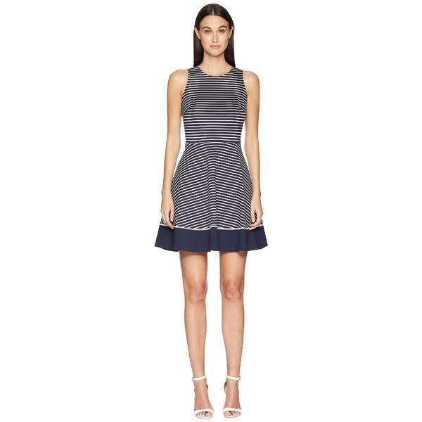 ケイト スペード ワンピース トップス レディース Stripe Ponte Dress Rich Navy/Off-White|asty-shop2|01