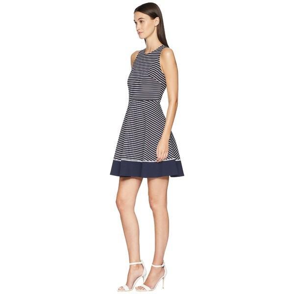ケイト スペード ワンピース トップス レディース Stripe Ponte Dress Rich Navy/Off-White|asty-shop2|02