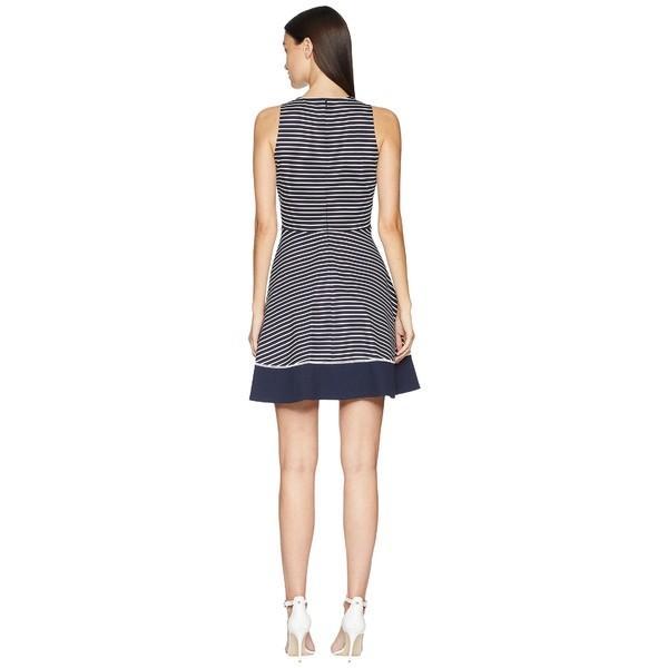 ケイト スペード ワンピース トップス レディース Stripe Ponte Dress Rich Navy/Off-White|asty-shop2|03