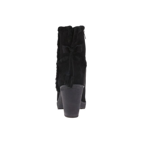 フライ ブーツ&レインブーツ レディース Jen Shearling Short Black Water Resistant Suede/Shearling