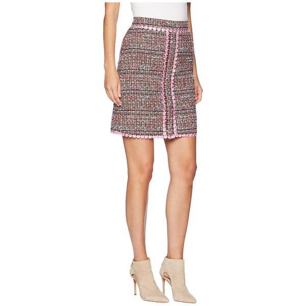 ブティックモスキーノ スカート ボトムス レディース Tweed Mini Skirt Fantasy Print Pink