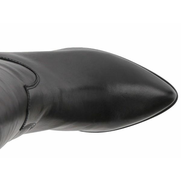 フライ ブーツ&レインブーツ シューズ レディース Lila Slouch Black Polished Soft Full Grain