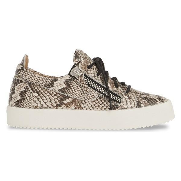 ジュゼッペザノッティ スニーカー シューズ レディース Giuseppe Zanotti May London Low Top Sneaker (Women) Natural Snakeprint