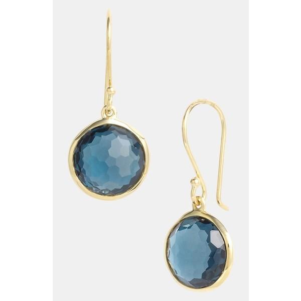 イッポリスタ ピアス&イヤリング アクセサリー レディース Ippolita 'Rock Candy - Mini Lollipop' 18k Gold Drop Earrings Yellow Gold/Blue Topaz