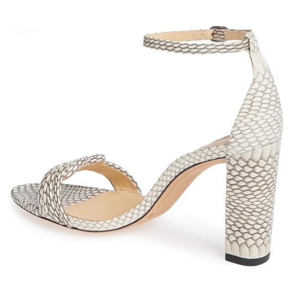アレクサンドラバードマン サンダル シューズ レディース Alexandre Birman Vicky Genuine Snakeskin Sandal (Women) Natural Snakeskin