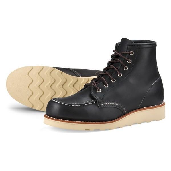 レッドウィング ブーツ&レインブーツ シューズ レディース Red Wing 6-Inch Moc Boot (Women) Black Boundary Leather