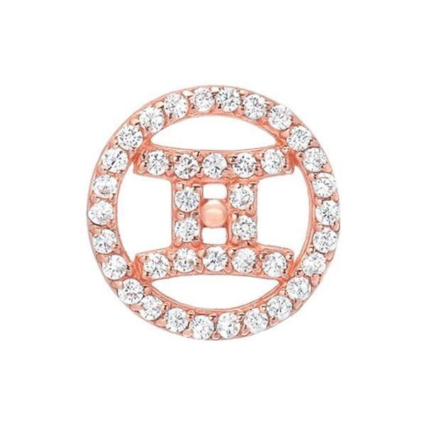 ミニミニジュエルズ ピアス&イヤリング アクセサリー レディース Mini Mini Jewels Dazzling Diamond Zodiac Sign Earring Rose Gold-Gemini