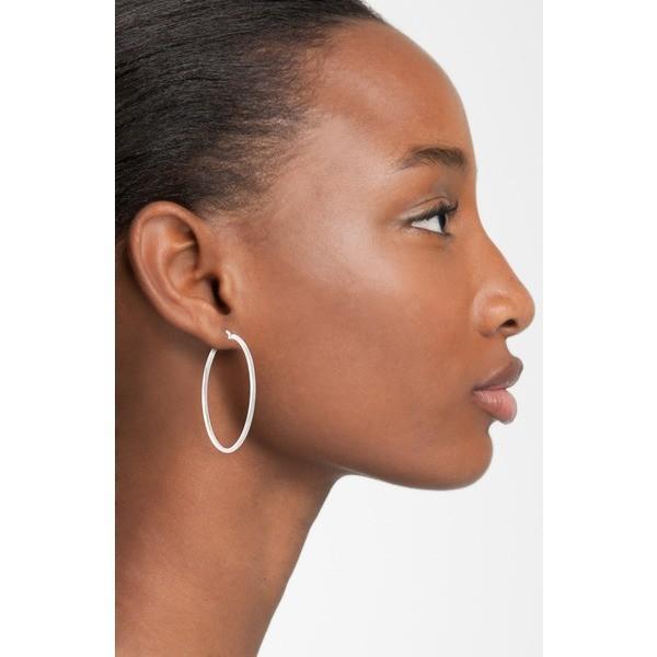 ボニー レヴィ ピアス&イヤリング アクセサリー レディース Bony Levy 14k Gold Hoop Earrings (Nordstrom Exclusive) White Gold