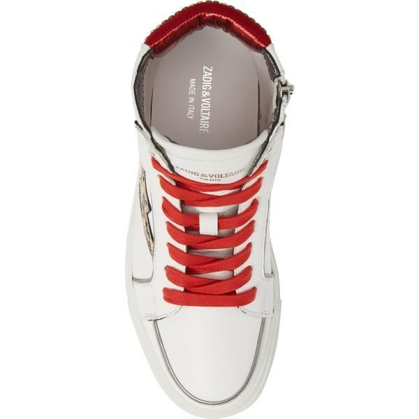 ザディグ エ ヴォルテール スニーカー シューズ レディース Zadig & Voltaire Flash Leo High-Top Sneaker (Women) Blanc