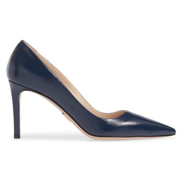 プラダ ヒール シューズ レディース Prada Pointy Toe Pump (Women) Royal Blue