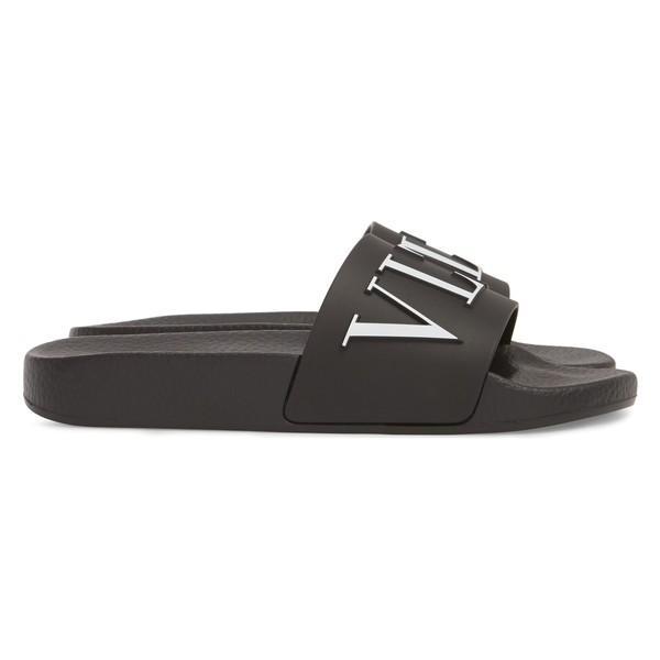 ヴァレンティノ ガラヴァーニ サンダル シューズ レディース VALENTINO GARAVANI Logo Slide Sandal (Women) Black/ White