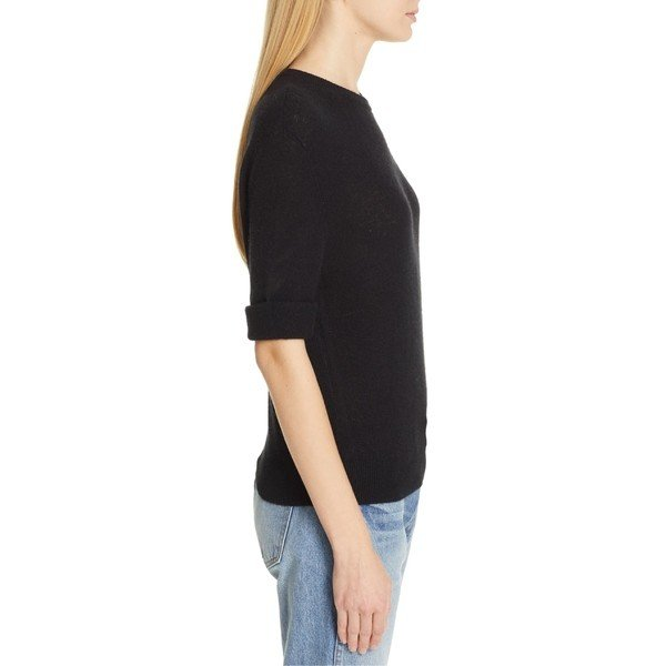 カイト ニット&セーター アウター レディース Khaite Lydia Short Sleeve Cashmere Sweater Black
