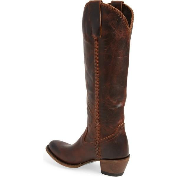 レーンブーツ ブーツ&レインブーツ シューズ レディース LANE BOOTS Plain Jane Knee High Western Boot (Women) Cognac Leather