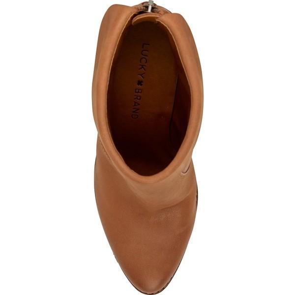 ラッキーブランド ブーツ&レインブーツ シューズ レディース Lucky Brand Nycott Leather Bootie (Women) Latte Leather
