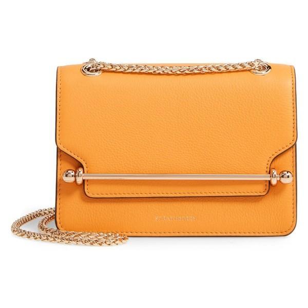 ストラスベリー ショルダーバッグ バッグ レディース Strathberry Mini East/West Leather Crossbody Bag Blossom Yellow