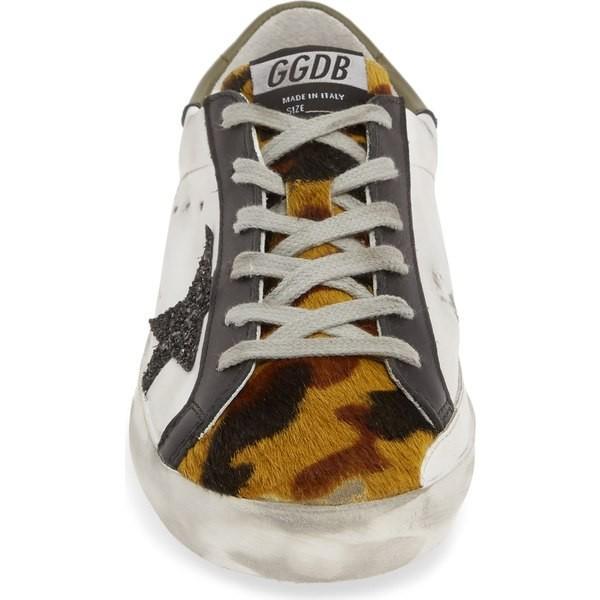 ゴールデングース スニーカー シューズ レディース Golden Goose Superstar Genuine Calf Hair Sneaker (Women) (Nordstrom Exclusive) White/ Camo