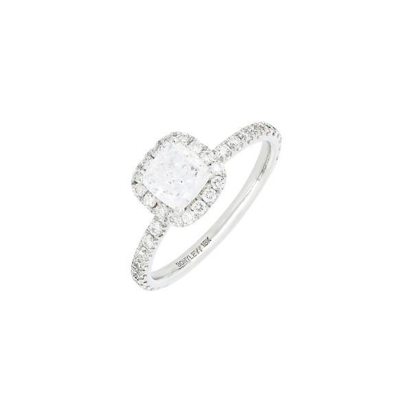 ボニー レヴィ リング アクセサリー レディース Bony Levy Cushion Halo Pav Diamond & Cubic Zirconia Ring(Nordstrom Exclusive) White Gold