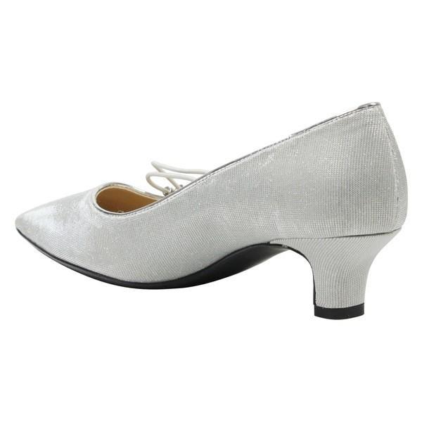 ジェイレニー ヒール シューズ レディース J. Rene Idenah Pump (Women) Silver Glitter Fabric