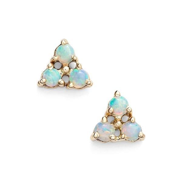ダブリューウェイク ピアス&イヤリング アクセサリー レディース WWAKE Triangle Opal Earrings Yellow Gold