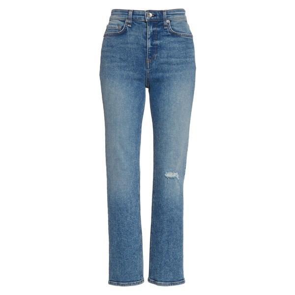 ラグアンドボーン カジュアルパンツ ボトムス レディース rag & bone Nina High Waist Ankle Straight Leg Jeans (Cleo) Cleo