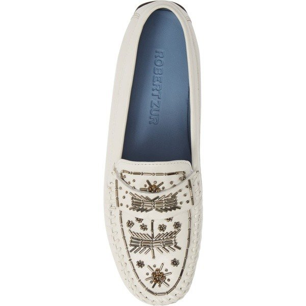 ロバート ツア サンダル シューズ レディース Robert Zur Majorca Embellished Loafer (Women) White A-Glove