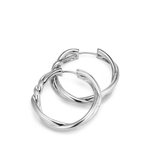 デイビット・ユーマン ピアス&イヤリング レディース David Yurman Continuance Hoop Earrings Silver