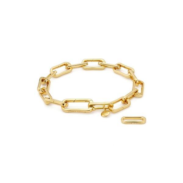 モニカヴィナダー ブレスレット・バングル・アンクレット アクセサリー レディース Monica Vinader Alta Capture Link Chain Bracelet Yellow Gold