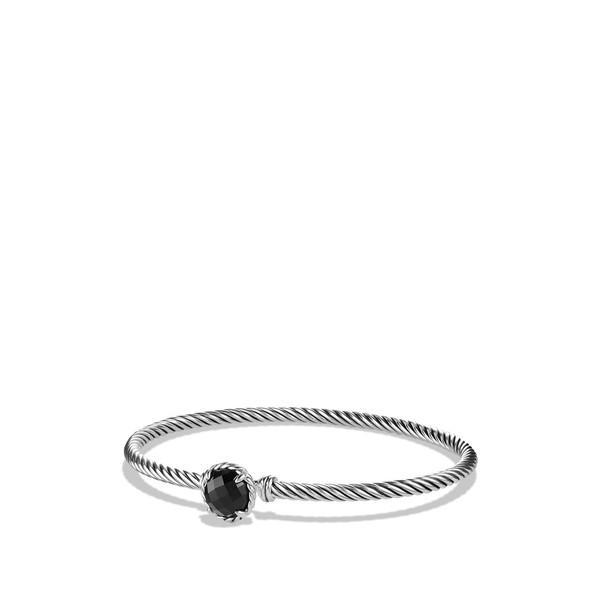 デイビット・ユーマン ブレスレット・バングル・アンクレット レディース David Yurman 'Color Classics' Bangle Bracelet Black Onyx
