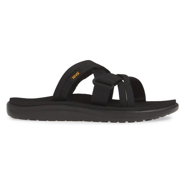 テバ サンダル シューズ レディース Teva Voya Infinity Water Friendly Slide Sandal (Women) Black Fabric