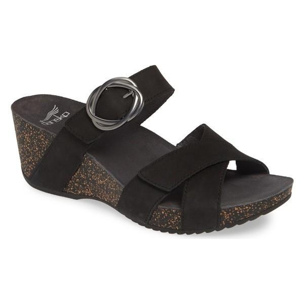 ダンスコ サンダル シューズ レディース Dansko Susie Platform Sandal (Women) Black Leather