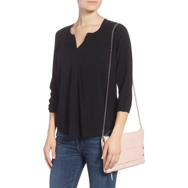 マリプラスリリ ショルダーバッグ バッグ レディース Mali + Lili Electra Vegan Leather Convertible Clutch Bag Blush