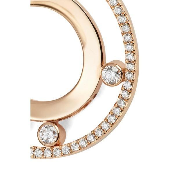 メッシカ ピアス&イヤリング アクセサリー レディース Messika Move Romane 18K Gold & Diamond Hoop Earrings Rose Gold