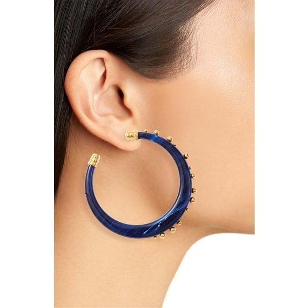 カスビジョー ピアス&イヤリング アクセサリー レディース Gas Bijoux Celeste Hoop Earrings Blue