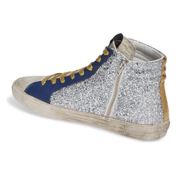 ゴールデングース スニーカー シューズ レディース Golden Goose Slide Glitter High Top Sneaker (Women) Silver/ Red/ Gold