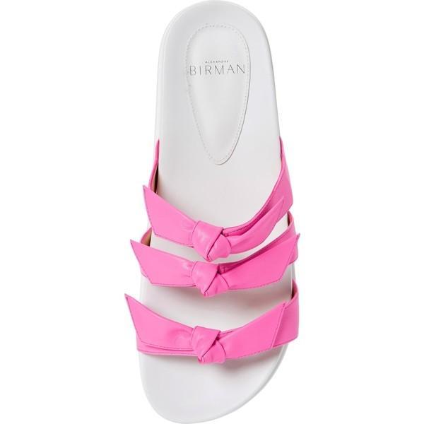 アレクサンドラバードマン サンダル シューズ レディース Alexandre Birman Lolita Bow Slide Sandal (Women) Pink Fluo