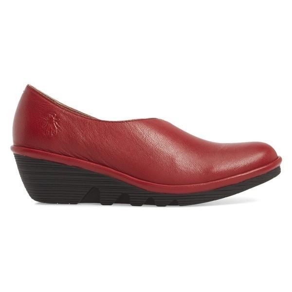 フライロンドン ヒール シューズ レディース Fly London Peso Wedge (Women) Rio Red Leather