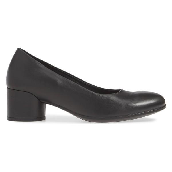 エコー ヒール シューズ レディース ECCO Shape 35 Round Heel Pump (Women) Black Leather