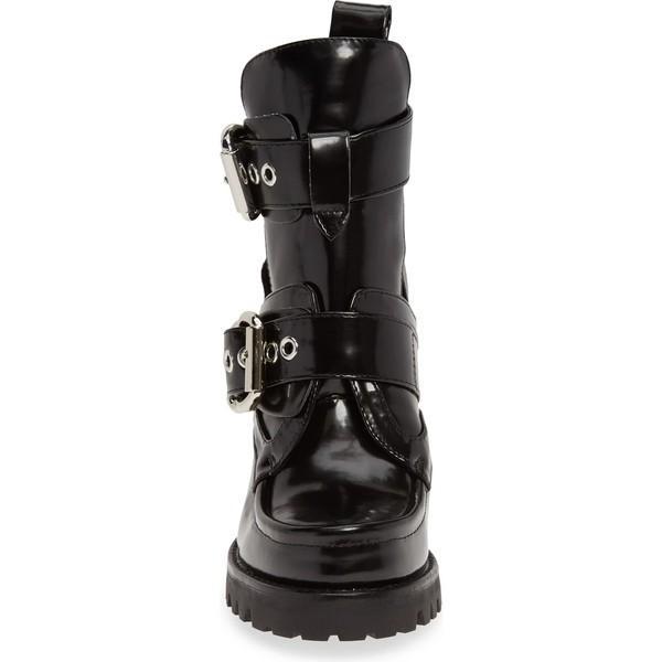 ジェフリー キャンベル ブーツ&レインブーツ シューズ レディース Jeffrey Campbell Craven 4 Platform Bootie (Women) Black Box Silver