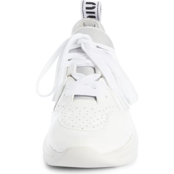 ミュウミュウ スニーカー シューズ レディース Miu Miu Logo Sole Sneaker (Women) White