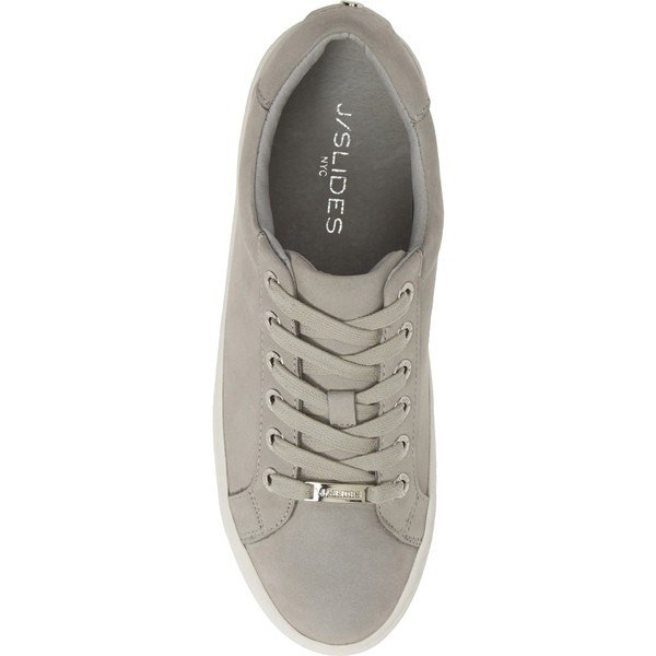ジェースライズ スニーカー シューズ レディース JSlides Hippie Platform Sneaker (Women) Light Grey Nubuck Leather